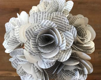 "Pride and Prejudice Book Roses, Varying Quantity, 3.5"", Book Paper Flowers"