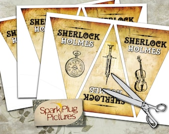 Sherlock Holmes Detective Bunting Banner