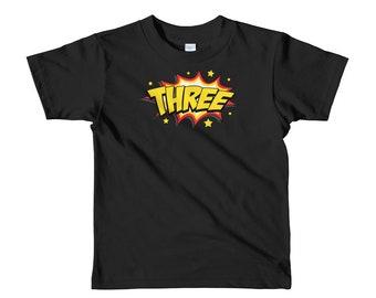 Superhero Third Birthday T-Shirt