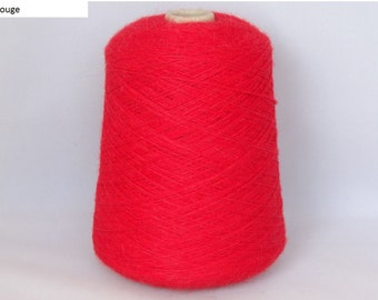 Yarn on the Cone - 100% Superfine Alpaca 4 ply - min. 450g cone