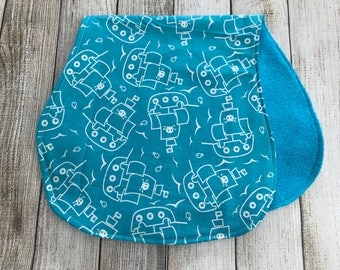 Pirate Ship Burp Cloth