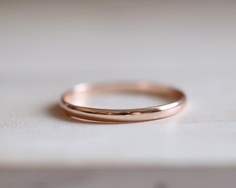 Rose Gold Band. Sterling silver gold plated thin band ring. Rose gold ring, Gold plated, Stacking ring, band ring, Engagement Wedding ring.
