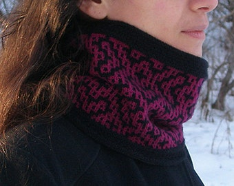 "Adult cowl (""Bukhara"") knitting pattern (PDF)"