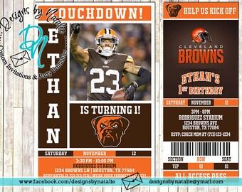 Cleveland Browns Football Invitation