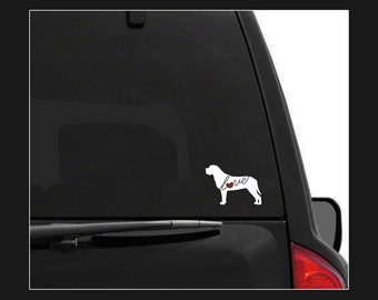 English Mastiff Love: A Car Window Vinyl Decal - Laptop Sticker - Dog Breed Decals - Dog Stickers - Cooler Decal - Gift for Dog Lover