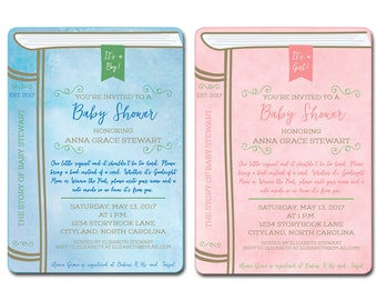 Story Book Baby Shower Invitation DIGITAL FILE