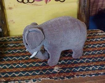 Antique Pincushion, Miniature Elephant Emery, Pin Cushion, Sewing, c 1910
