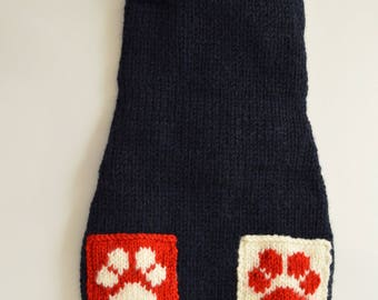 we knit made to measure dog pet sweaters - other colors are possible