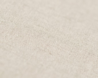 Linen cotton blend fabric by half yard, Natural fabrics by the yard, Cotton fabric, Sand brown - light neutral oatmeal color fabric