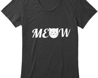Meow Womens tri blend tee