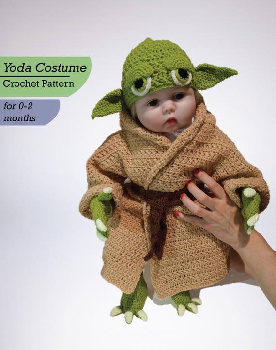 & Infant Yoda Crochet Costume Pattern PDF Star Wars Baby