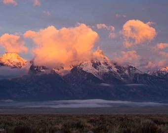 Grand Tetons Sunrise / Grand Teton National Park / Grand Teton Park / Mountain Sunrise / Mountain Range / National Park Prints