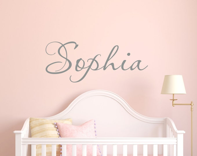 Wall decal vinyl decals girls name decal teen room decor kids room