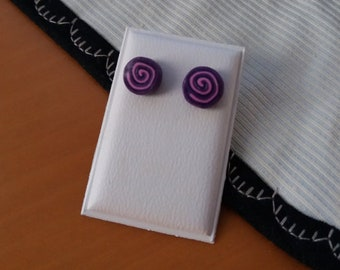 Round earrings 10 Ø in polymer clay