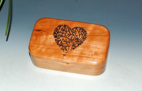 Wooden Box - Wood Box -Tree of Life Heart Engraved Box, Business Card Box, Jewelry Box, Handmade Box, Sacred Tree Box, Gift Box, Trinket Box