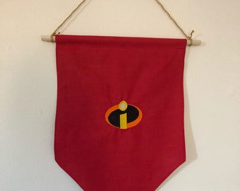 Incredibles Pin Display flags - display your pin badges or even just decorate your walls with banners