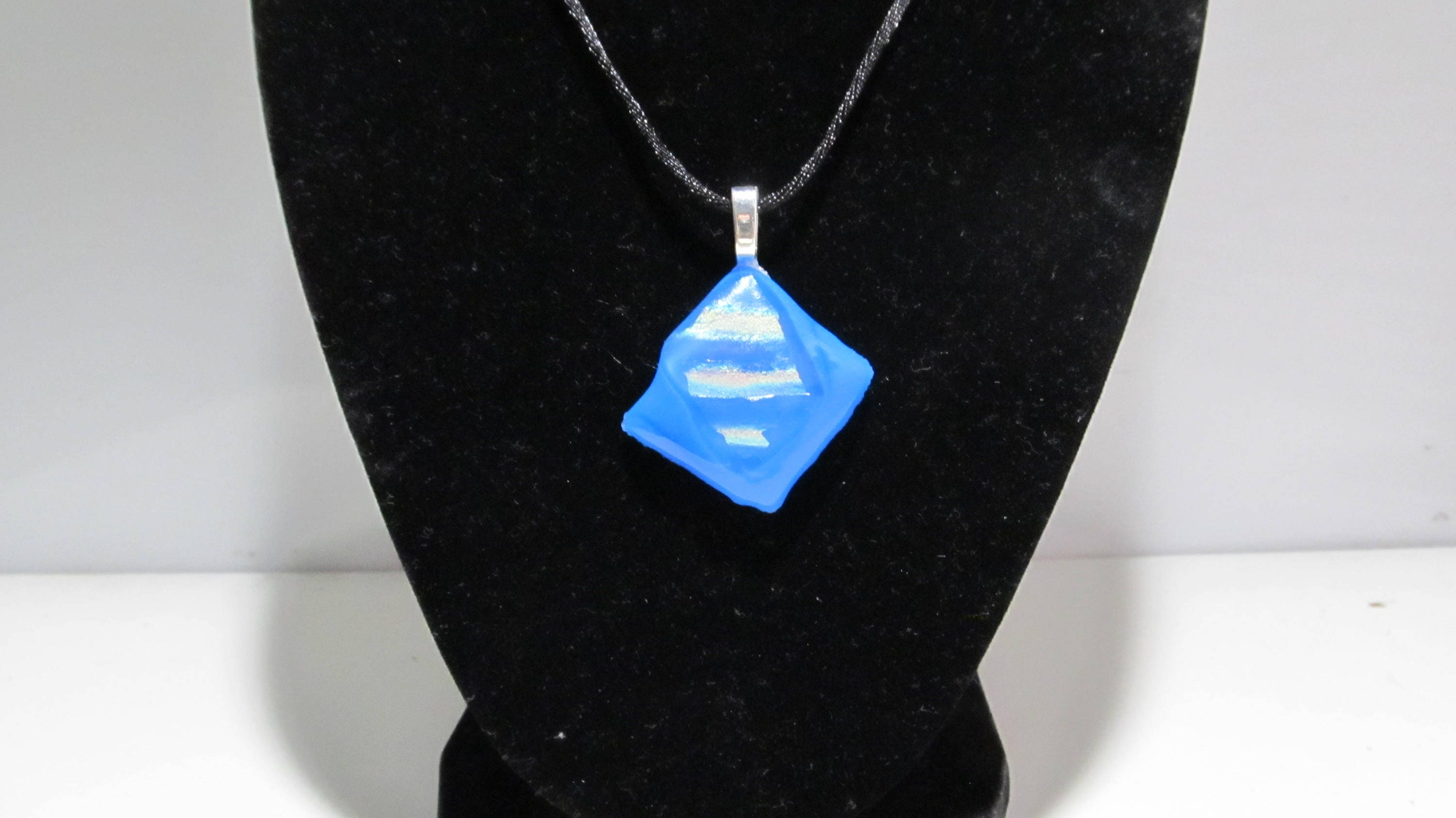 by on love deviantart blue fused pendant fusedelegance glass art