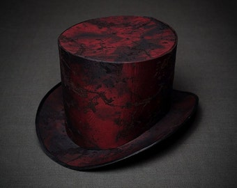 BASIS for making STEAM-PUNK Women's Men's Top Hat Mad Hatter Alice in Wonderland Steam Punk Tophat Steampunk Party Cosplay  Marsala Top Hat