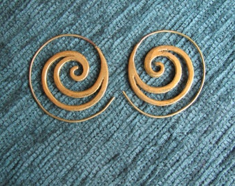 Golden mean spiral Indian earrings