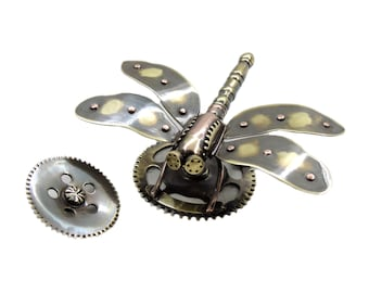 Steampunk Brooch Gothic Victorian Steampunk Jewelry Steampunk pin