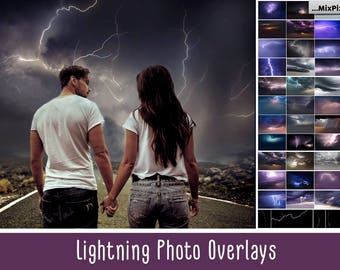 Lightning overlays, Storm, Dramatic, Thunderstorm, Stormy, Rain Clouds, Thunderbolt, Overlays, Photoshop, Lightning, Windstorm, Background