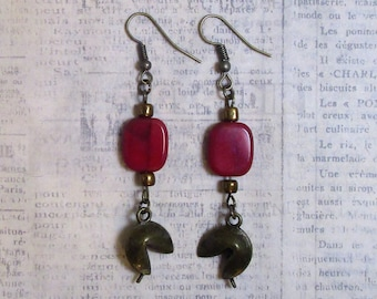 fortune cookie earrings