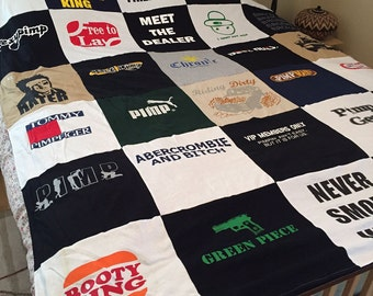 One-of-A-Kind SexyPimp T-shirt Quilt FULL-SIZED Quilted Fleece Comforter Blanket