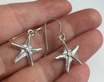 Starfish  Earrings. Sterling Silver Starfish  Earrings. Silver Starfish  Earrings. Starfish
