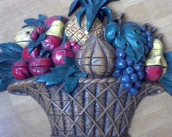 Kitchen wall hanging Basket of Fruit Dart made in the USA kitchen decor dinning room decor 26x18 inches