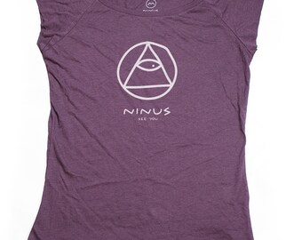 Ninus - See You, Hand-printed Bamboo Women's T-Shirt