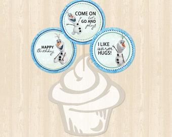 Frozen Olaf Cupcake Toppers