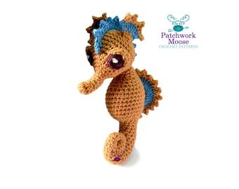 Seahorse Crochet Pattern PDF Instant Download - Josie