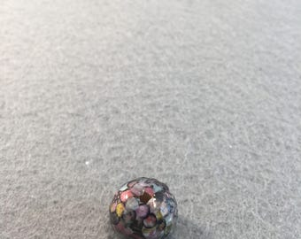 Muted Spring Ice Paper and Wooden Core Dragon Bead