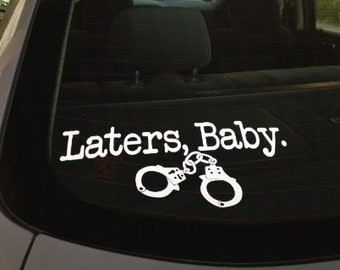 "12""x4"" Laters Baby Decal"