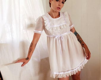 Courtney Babydoll- womens dresses- grunge- 90's- white babydoll
