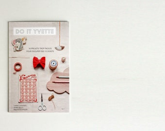 """DIY book """"Do It Yvette"""" - fashion, accessories and home decor craft do it yourself projects - ready to ship"""