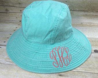 Monogram Beach Hat - Monogram Sun Hat - Monogram Floppy Hat