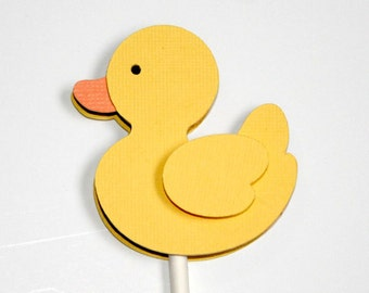 Rubber Duck Cupcake Toppers Baby Shower