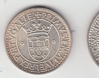 Portugal, XVII exhibition, 500, 750 and 1000 shields silver coins