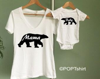 Mama Bear, Mama Bear shirt, Baby Bear shirt, Mama bear Baby Bear shirts, Mother's Day Gift, New Mom Gift, Mother to be Gift