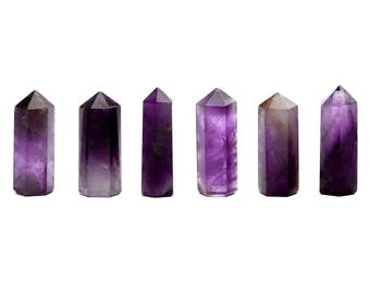 1 Amethyst Crystal Tower - (21mm x 8mm x 7mm) - Natural Amethyst - Small Amethyst Point - Amethyst Obelisk - Healing Stones - Reiki Crystals