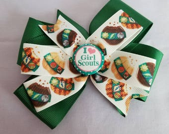 I Love Girl Scout hair bow