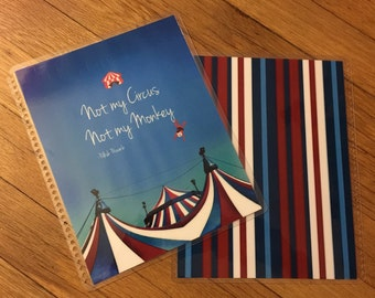 Front and Back Cover Set *Not My Circus Not My Monkey* for use with Erin Condren or Happy Planner