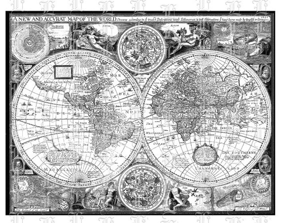 World map ancient cartographic illustrations antique vintage world map ancient cartographic illustrations antique vintage clip art high resolution printable graphic img1864 gumiabroncs Choice Image
