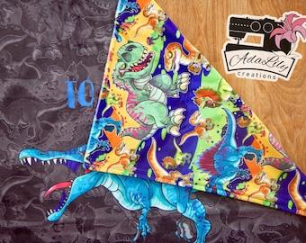 """Toddler Blanket - Jurassic Jerks 28""""X33"""""""