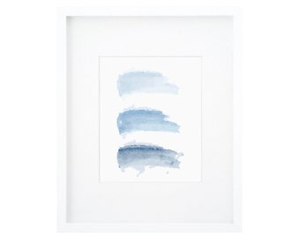 Blue Watercolor, Blue Brushstroke Art, Blue Wall Art, Blue Wall Decor, Blue Watercolor Art, Modern Blue Print, Abstract Blue Painting