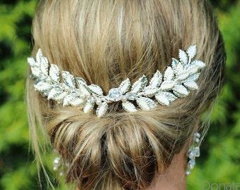 ON SALE Wedding Hair Comb Bridal headpiece Bridal hair comb Wedding hair piece Laurel Hair Comb Leaf  Bridal hair piece Goddess  - HANNAH