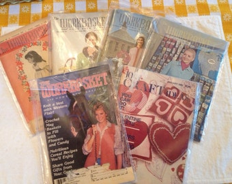 Set of 5 Workbasket magazines and 1 1001 Craft Ideas magazine