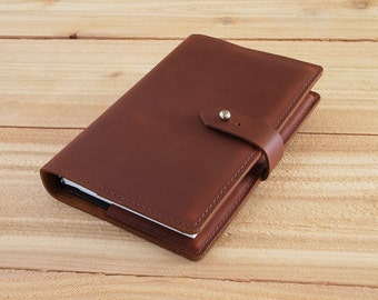 4X6 Refillable Tan, Oil Tan, Handmade Leather Journal