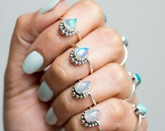 Opal Ring * Fire Opal * Australian Opal * Opal Jewelry * Fire Opal Ring * Promise Rings * Ethiopian Opal Ring * Opal Stacking Ring * Silver